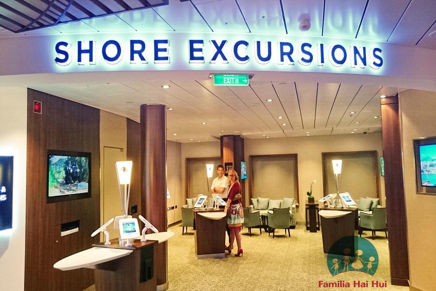 croaziere cu copii, Royal Carribean, Ovation by the Seas, birou excursii
