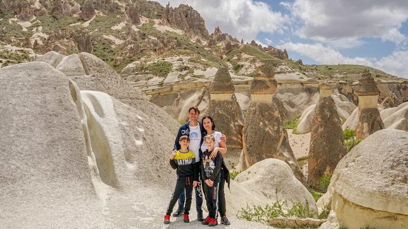 Cu copiii în Cappadocia